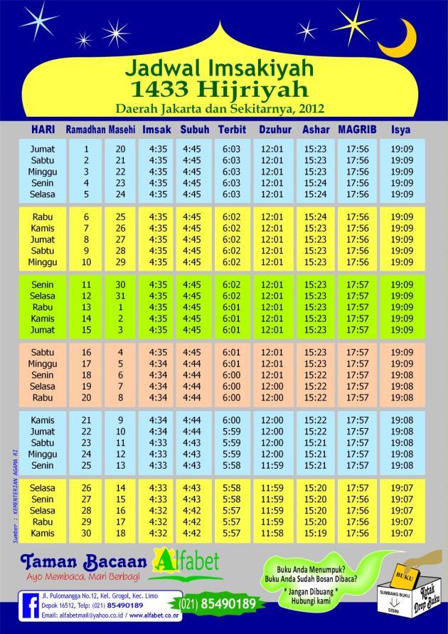 jadwal puasa imsakiyah ramadhan 1433 h jakarta download gratis